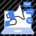 online, marketing, advertising, communication, e-commerce, promotion, advertisement icon