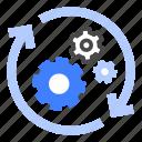 implementation, process, execution, arrow, activity, coordination, effort