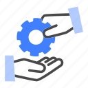 service, business, task, customer, assistance, problem, solving icon