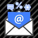 inbox, marketing, advertising, communication, online, newsletter, mail icon