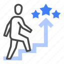 career, growth, seeker, skill, expertise, step, motivation icon