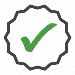 approval, award, badge, complete, correct, tag icon