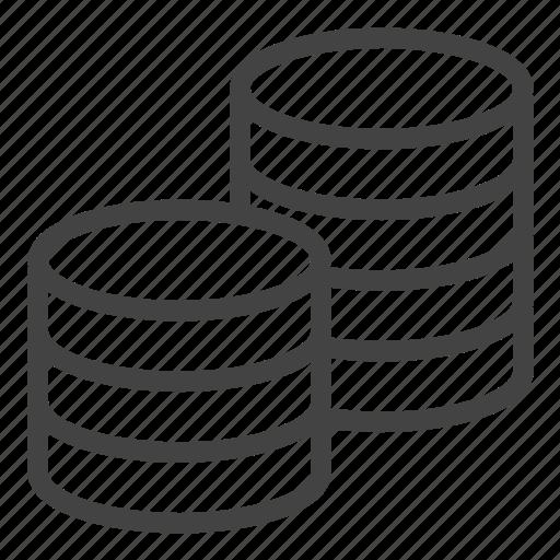 Coins, database, data, storage icon - Download on Iconfinder