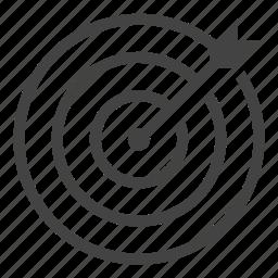 center, focus, goal, success, target icon