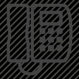 contact, landline, office, phone, telephone icon