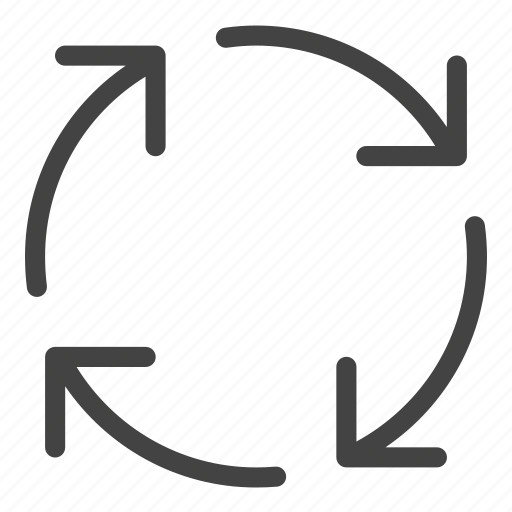arrow, cycle, flow, process icon