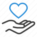health, healthcare, heart, love, maintenance, trust icon