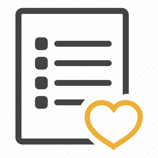 document, documents, files, likes, list, paper, wish icon