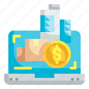 online, business, computer, dollar, trade