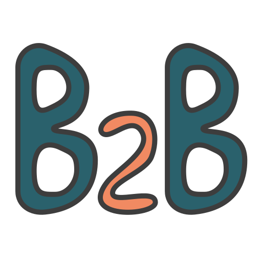 b2b, business 2 business, business model, business to business icon