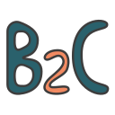 b2c, business 2 consumer, business model, business to consumer, business to customer icon