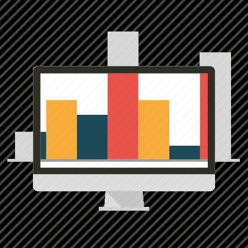 analysis, analytics, apple, barchart, business, diagram, graphics icon