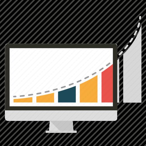 analytics, apple, diagram, graph, graphic, marketing, seo icon