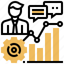 analysis, chart, data, management, performance icon