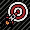 rocket, target, mission, goal, win