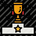 success, prize, award, podium, cup