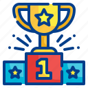 trophy, podium, success, reward, award