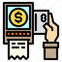 bill, business, cash, coin, money, pay icon