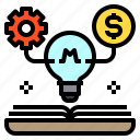 business, coin, idea, money, network icon