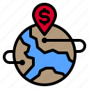 location, map, navigation, pin, world icon