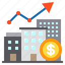 building, business, cash, growth, money icon