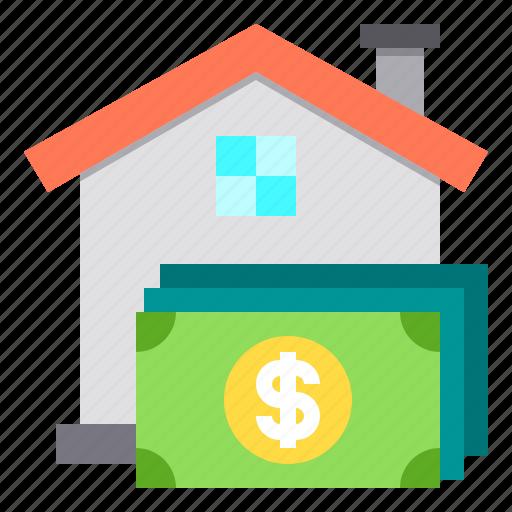 cash, home, house, loan, money icon