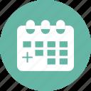 calendar, medical sgn icon