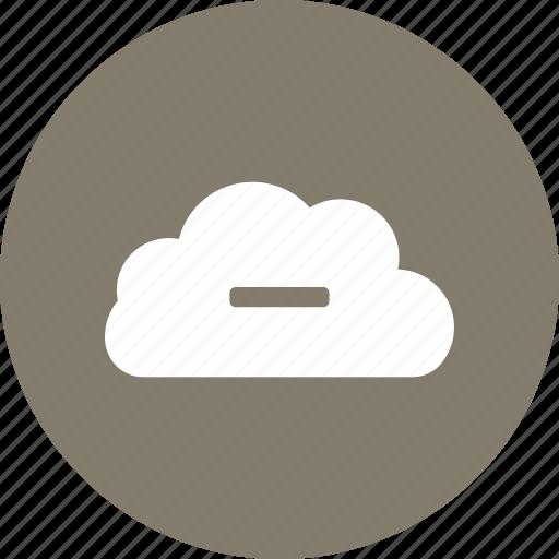 cloud, minus icon