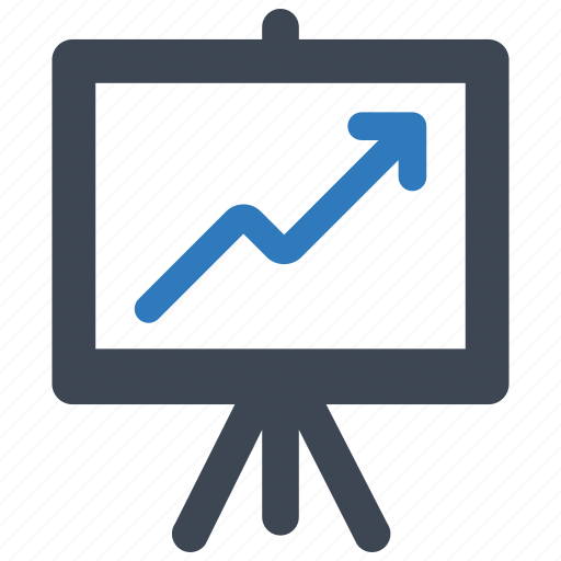 analytics, business, growth icon