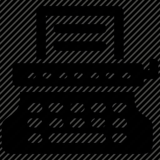 Typewriter, office, register icon - Download on Iconfinder