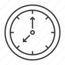 circle, clock, date, office, rime, timer, work icon