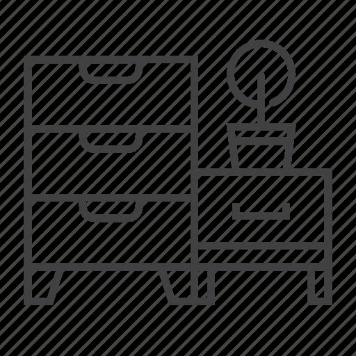 Cabinet, closet, drawer, furniture, interior, office, storage icon - Download on Iconfinder