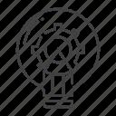 bulb, creative, creativity, gear, idea, innovation, pencil icon