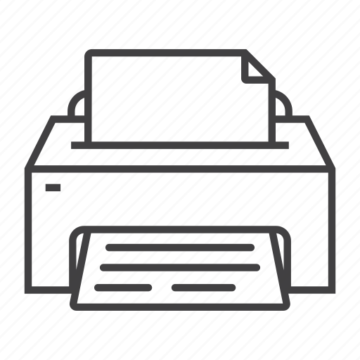 document, office, output, print, printer, printing, work icon