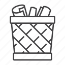 bag, basket, delete, document, paper, recycle, trash icon