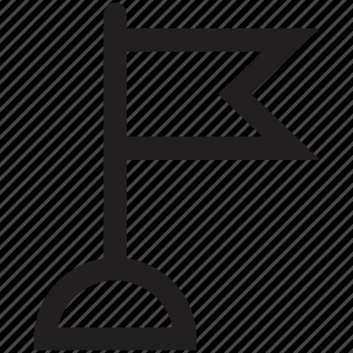 flag, flagpole, location, pin, pointer, pole icon