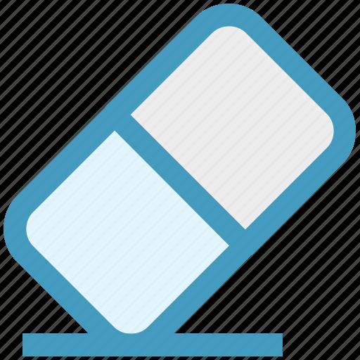 clean, correction, erase, eraser, office, remover, rubber icon