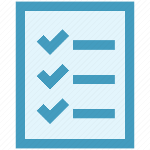 business, check, checklist, document, list, office, paper icon