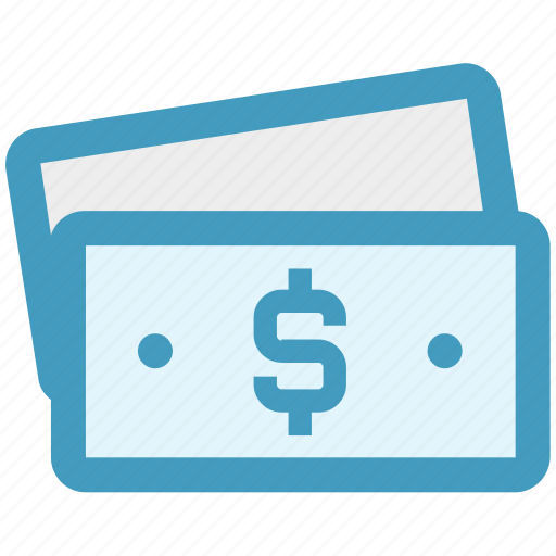 bank notes, business, cash, currency, dollar, notes icon