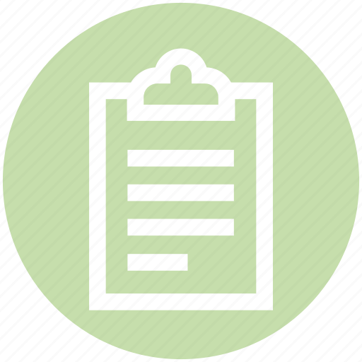 assessment, business, clipboard, list, report, tasks icon
