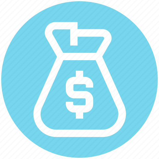 bag, bank, business, currency, dollar, money, money bag icon