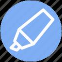 color fill, education, felt, highlight, marker, pen, tip icon