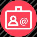 business, card, id, id card, identity card, user card icon
