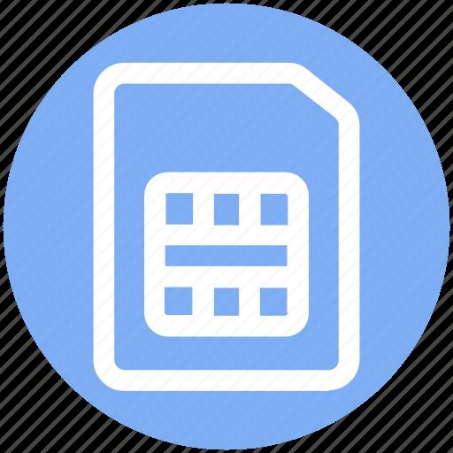 card, chip, number, phone, phone sim, sim, simcard icon