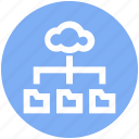 business, cloud, data, folders, internet, sharing icon