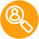 business, magnifier on user, search for user, search user, user icon