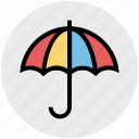business, forecast, insurance, protection, rain, umbrella icon