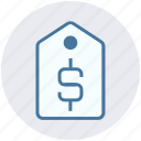 business, commercial tag, dollar, label, price, price tag, tag icon