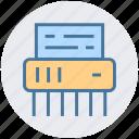 cutter, delete, destroy, file, machine, office, shredder icon