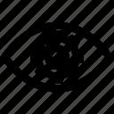 cogwheel, creative, eye, gear, process, view, vision icon